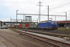 BLS 193, Pratteln. (Jordi Pauw) Tags: br193 vectron siemens bls 193490 475406 goederentrein goederen goederenlocomotief goederenloc goederenvervoer containers containertrein pratteln zwitserland canon 1000d