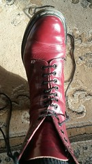 20180305_150412 (rugby#9) Tags: drmartens boots icon size 7 eyelets doc docs doctormarten martens air wair airwair bouncing soles original 14hole lace docmartens dms cushion sole yellow stitching yellowstitching dr comfort cushioned wear feet dm 14 hole cherry indoor 1914 boot footwear shoe macro