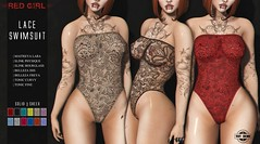 [RED GIRL] Lace Swimsuit - NEW!!! ([RED GIRL]) Tags: anybody maitreya bellezafreya bellezaisis slinkphysique slinkhourglass lace swimsuit bodysuit body girls women sexy sexybody