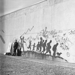img069 (simcitizzon) Tags: hasselblad 503cx ilford hp5 iso400 banksy graffiti