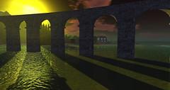 Arches (G. Inc.) Tags: render secondlife sl 3d virtualworld landscape sunrise sea metaverse rendering