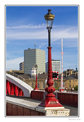 Ornamental Lamp Post (Seven_Wishes) Tags: newcastleupontyne canoneos5dmarkiv canonef24105mmf4lisii photoborder outdoor jo 2018 bridge red lamppost lamp ornamental quayside buildings calecrosshouse swanhouse tyneandwear uk city edoliverphotography views15k