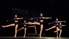 Blue over Black (R.A. Killmer) Tags: recital blue black beauty cute performance dance graceful talented show stage nikon d750 costume spin