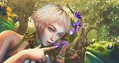 Frawgs (clau.dagger) Tags: enchantment secondlife fantasy fairytales event thefrogprince naminoke dahlia accessories rings thelookingglass trees culprit frog pet gacha tram insol catwa maitreya belleepoque madpea milaposes