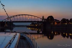 Deventer vanaf de Piet Hein (Hans van Bockel) Tags: 1680mm boot d7200 deventer hein jacht koninklijk nikkor nikon piet schip varen wellekade blue hour lightroom imagenomic