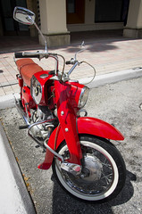 1965 Honda CA77 Dream 305 (Burnt Umber) Tags: 1965 honda ca77 dream 305 motorcycle mod florida south boca raton car show fathers day mizner park antique auto automobile japan japanese rice burner rpilla001