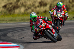 #2 and #18 Glenn and Andrew Irwin (PINNACLE PHOTO) Tags: irwin brothers fast bsb thruxton ducati bewiser panigale red racing motorbikes