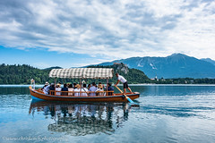 Pletna boat - Lake Bled (www.chriskench.photography) Tags: xt2 slovenia ljubljana 18135 europe lakebled kenchie blejskigrad bled travel radovljica si people rower rowing