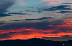 Fire Sunset (csath07) Tags: sunset sun sky clouds cirrus colors nature outdoors athens attica greece mountains shapes shades patterns shadows cloudsstormssunsetssunrises canon canon5dmk4 tamron weather meteo landscape mountain hill
