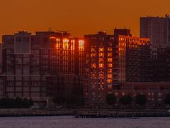 Sundown behind Jersey City (Steppenwolf33) Tags: sky sunset reflexions city steppenwolf33 window
