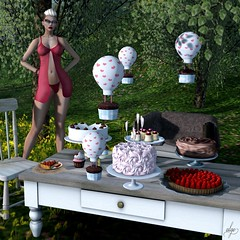 What I missed (III) (Algezares (III)) Tags: kaithleens secondlife sexy sensual sheer maitreya makeup mesh minidress lelutka cakes
