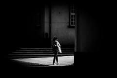 Light between buildings (MortenTellefsen) Tags: shadow monochrome bw blackandwhite blackandwhiteonly bergen bnw streetphoto street black norway canon