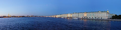 St Petersburg - Panorama from the Palace Bridge (fb81) Tags: russia saintpetersburg state hermitage museum winter palace bridge art culture catherine great painting rastrelli peter paul fortress bluehour ilumination river newa water