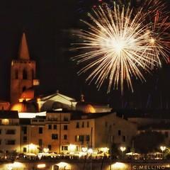 Ferragosto in Sardegna. (clausterrible) Tags: fireworks alghero sardinia sardinianevent fuochidartificio ferragosto migagost sonya5100 sonylenses 55210oss sony night