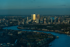View from the Shard (sarah_presh) Tags: canarywharf london city onecanadasquare thames riverthames theshard view sunset nikond750