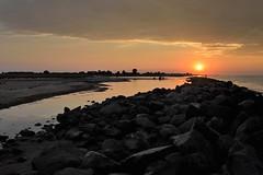 summer madness (liebeslakritze) Tags: summer madness party holidays ferien sunset heat hitze ostsee balticsea stones beach steine mole sonnenuntergang