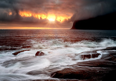 Stormy sunset (davidshred) Tags: tungeneset senja norway sunset