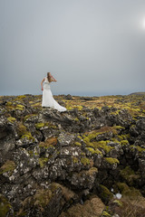 In Search of the Fae (JeffMoreau) Tags: fae fairy mythological tale tail sony a7ii zeiss bride bridal lava rock moss iceland icelandic princess portrait search