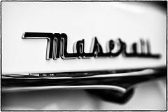 Maserati (drpeterrath) Tags: canon eos5dsr 5dsr closeup macro bw blackwhite maserati car auto automobile logo detal mood