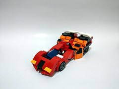 Lego moc - Fire Superione GTR (c_s417) Tags: lego moc race cars vehicle japanese animation cartoon 新世紀gpxサイバーフォーミュラ gt gtr