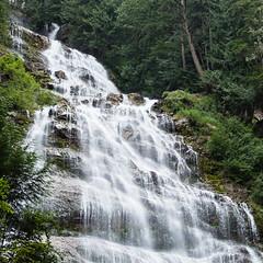 Bridal Veil Falls Grandeur 2 (Gene Mordaunt) Tags: waterfall cascade bridalveilfalls britishcolumbia canada nikond810 trees wilderness mountain river stream
