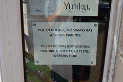Sign in Opticians window (graham19492000) Tags: sign optician