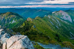 Mt Adams with Clouds (karlsjohnson) Tags: backpacking hiking karl landscape mountains travel washington vancouver usa