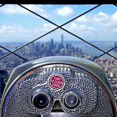 Turn to Clear Vision (pom'.) Tags: skyline panasonicdmctz101 august 2018 usa america northamerica stateofnewyork newyorkcity empirestate newyorkmetropolitanarea manhattan unitedstatesofamerica empirestatebuilding 1931 1050feet 320m 86thfloor 350fifthavenue artdeco skyscraper midtownmanhattan southmidtown murrayhill telescope observatory clouds hudsonriver garmentdistrict 100 200
