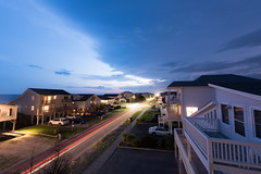 Dusk (BDurk) Tags: dusk beach long exposure clouds lights houses vanishing point
