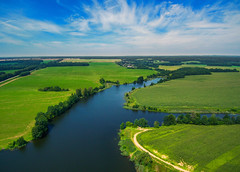 Belarus (free3yourmind) Tags: belarus river aerial view above green land clouds cloudy quadcopter xiaomi mi drone