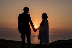 Love is in the air... (Efren SL) Tags: sunset wedding love orange asturias sea water