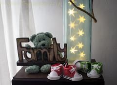 Family (HTBT) (13skies) Tags: planning lights shoes sign family posing pose gerrie greenbear decore teddybear teddybeartuesday bears fun htbt windowlight display showing