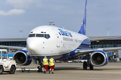 BMS_BlueAir_B738_YRBMP_pushback_BRU_AUG2018 (Yannick VP) Tags: airplanespotting planespotting photography aviation 2018 august eu europe be belgium ebbr bru airport brussels pushback tarmac airside colours colors livery special caroli yrbms b738 737800 b737ng ng nextgen b737 boeing blueair bluemessenger bms b0 airliner jetliner jet aeroplane aircraft transport pax passenger commercial civil airplane