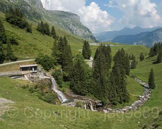 EBS Ruosalp Weir over the Ruosalper Brook, Unterschaechen, Canton of Uri, Switzerland