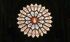 Durham Cathedral Rose Window (Heaven`s Gate (John)) Tags: durhamcathedral durham cathedral rose window interior art architecture stained glass england johndalkin heavensgatejohn northeast gothic romanesque