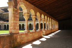Abbaye de St MICHEL de CUXA  closter (Josiane D.) Tags: abbaye pyrenees france closter stone colunn patio