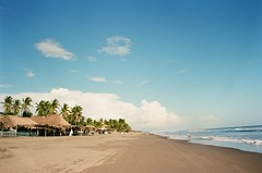 Rip Tide (Caroline Kutchka Folger) Tags: pacificocean palmtrees beach film filmtravel kodakultramax chiapas mexico bluesky clouds sand analog mexicoonfilm 35mm