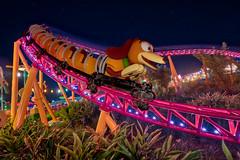 Hollywood Studios - Hang On! (Jeff Krause Photography) Tags: dhs dash disney dog hollywood night park rollercoaster slinky story studios toy track theme slinkydogdash slinkydog