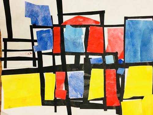 """Every year I get new favorites with this #kindergarten #pietmondrian  inspired painted paper gridded #collage ❤️❤️  They have such an amazing lyricism at this age that I admire so much. Want em all! • <a style=""""font-size:0.8em;"""" href=""""http://www.flickr.com/photos/57802765@N07/43177787384/"""" target=""""_blank"""">View on Flickr</a>"""