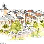 Ax-les-Thermes, USK dessine la ville ... thumbnail