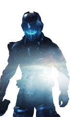 Isaac (indigo) (Den7on) Tags: isaac clarke dead space 3 electronic arts double exposition visceral games