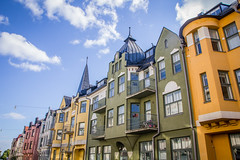 Huvilakatu - Villagatan (Markus Heinonen Photography) Tags: huvilakatu ullanlinna ulrikasborg helsinki stadi helsingfors kaupunki stad city cityscape architecture arkkitehtuuri rakennus building jugend art noveau colourful suomi finland europe