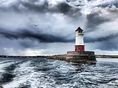 Stormy weather (lewi1553) Tags: thunder rain uk badweather sky stormy storm mood moody atmosphere clouds weather england northumberland berwicklighthouse berwickupontweed lighthouse