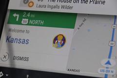 Google Map's Welcome to Kansas (BeerAndLoathing) Tags: summer 2017 roadtrip oklahoma 77d colorado trip kansas canon eclipsetrip august usa canoneos77d
