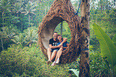Traveler honeymoon couple in the jungle of Bali island, Indonesia. Couple in the rainforest. (Artem Bali) Tags: couple jungle travel nature people female adventure woman male hiking forest together vacation trees outdoors man outdoor trip summer boyfriend beautiful leaves tourism rainforest park green hikers girlfriend attractive friendship girl person beauty two caucasian waterfall handsome togetherness caucasianman relationship walking flora active water youth safarisuits natural backpack tourist holiday