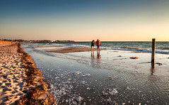 Evening walkers (Asian Hideaways Photography) Tags: beach sea seascape people walkers sunset evening sand tide breville normandy normandie france