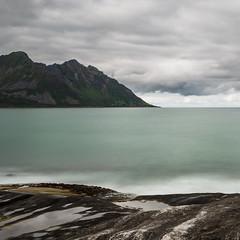 Steinfjord (Asbjørn Anders1) Tags: senja tungeneset steinfjord trælen fjord sea ocean mountain longexposure sky clouds landscape seascape