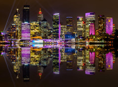 City on Glass (Jared Beaney) Tags: canon canon6d australia australian photography photographer travel sydney vividsydney 2018 night reflections reflection city cityscapes sydneyharbour circularquay bright colour