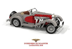 Duesenberg SSJ Roadster (1936( (lego911) Tags: duesie duesenberg ssj sj indiana 1936 1930s classic vintage oldtimer supercharged swb luxury playboy acd auto car moc model miniland lego lego911 ldd render cad povray usa america american chrome twotone celebrity garycooper clarkgable roadster speedster convertible foitsop