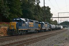 CSX 2709 @ Woodbourne, PA (Dan A. Davis) Tags: csx freighttrain locomotive train gp382 c970 woodbourne langhorne pa pennsylvania